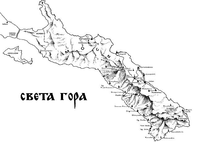 sveta gora mapa Manastir Hilandar, Sveta Gora Atos sveta gora mapa